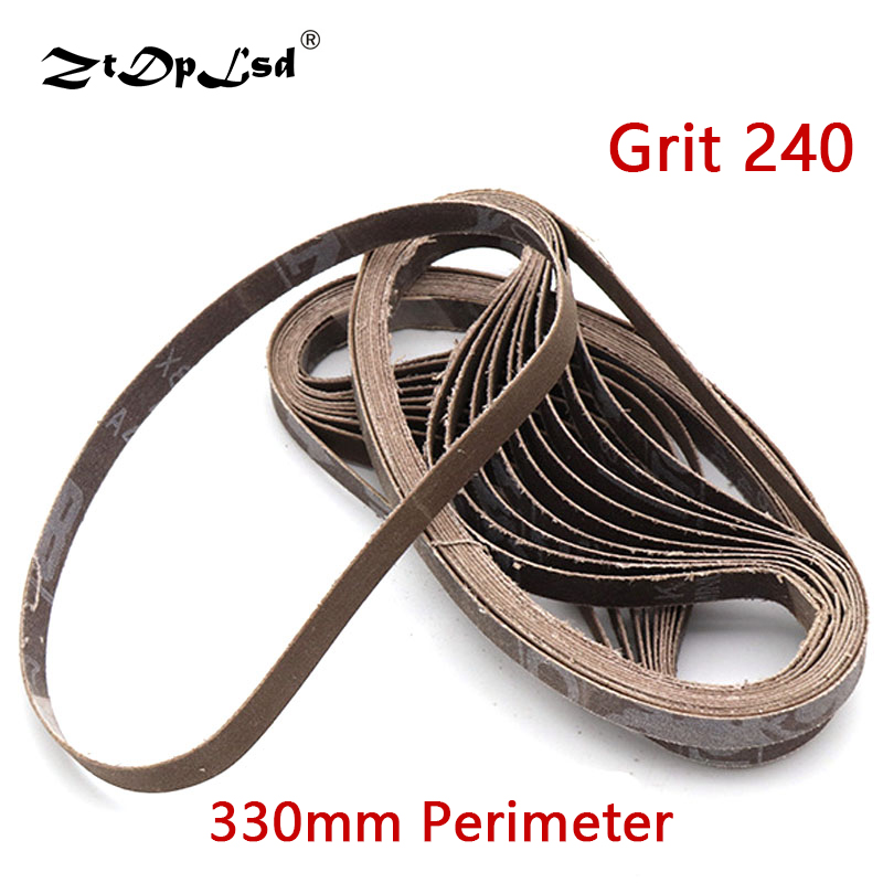 330X10MM Abrasive Sanding Belts Grit 240 Bands On Air Oxide Belt Sander For Weld Surface Conditioning Adapter Polishing Machine