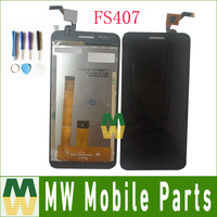 1PC Lot High Quality For Fly FS407 Stratus 6 FS 407 Black White Color LCD Display