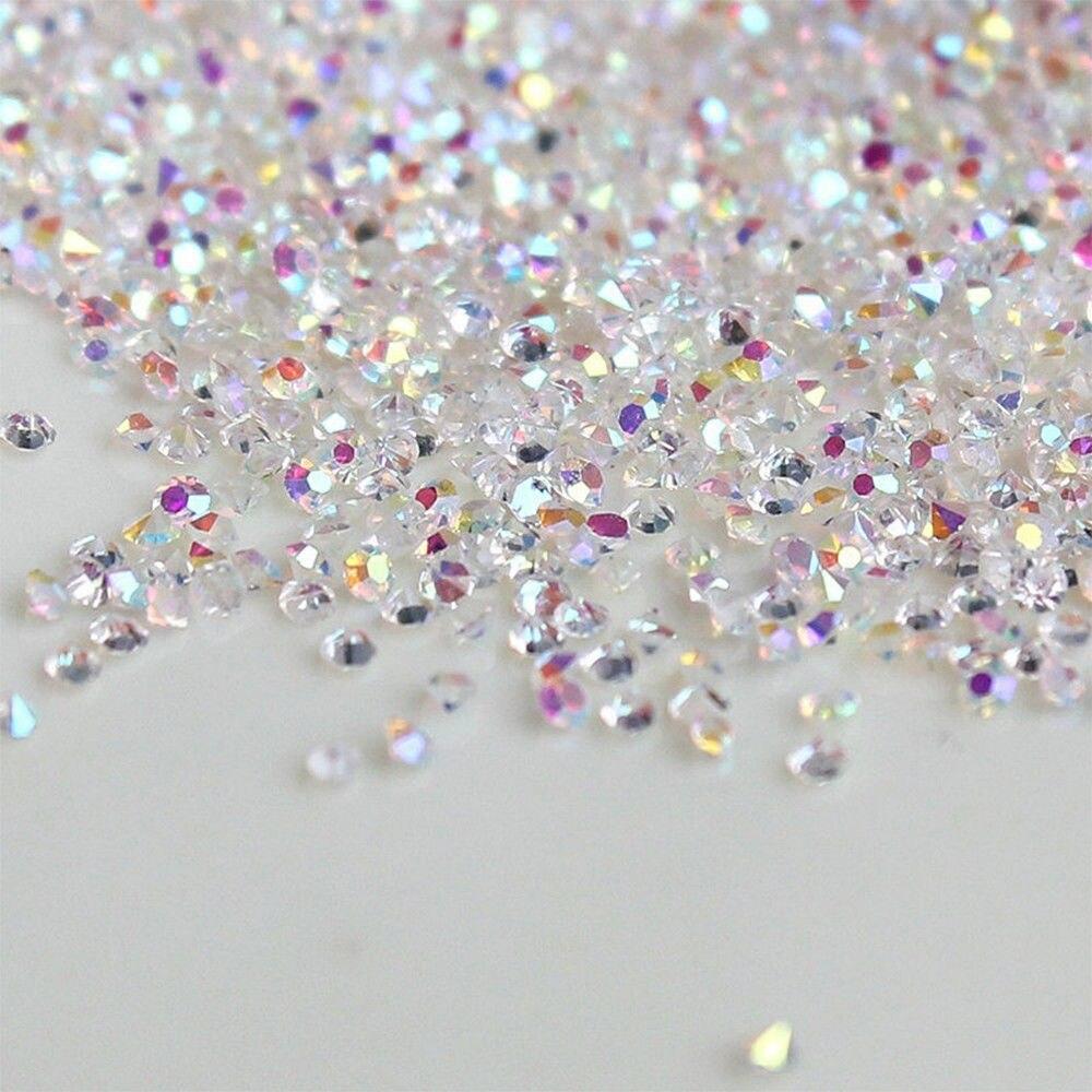 1440Pcs 1.2mm AB Crystal Glass Caviar Beads Tiny 3D Micro Pixie Mermaid Nails Art Manicure Decoration Tips Tools
