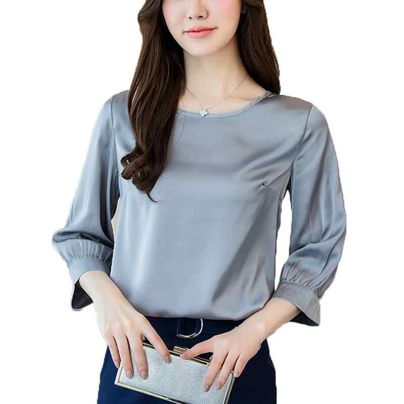 964e7561f57 Для женщин пикантные футболка с круглым вырезом блузка 2018 Новая мода плюс  Размеры S-3XL