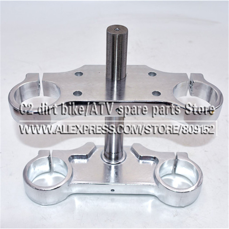 """Aluminum Motorcycle 22mm 7/8"""" Handlebar Riser Mount Bars 45 48MM inverted shock absorber direction device upper and lower plate-in Handlebar from Automobiles & Motorcycles    1"""
