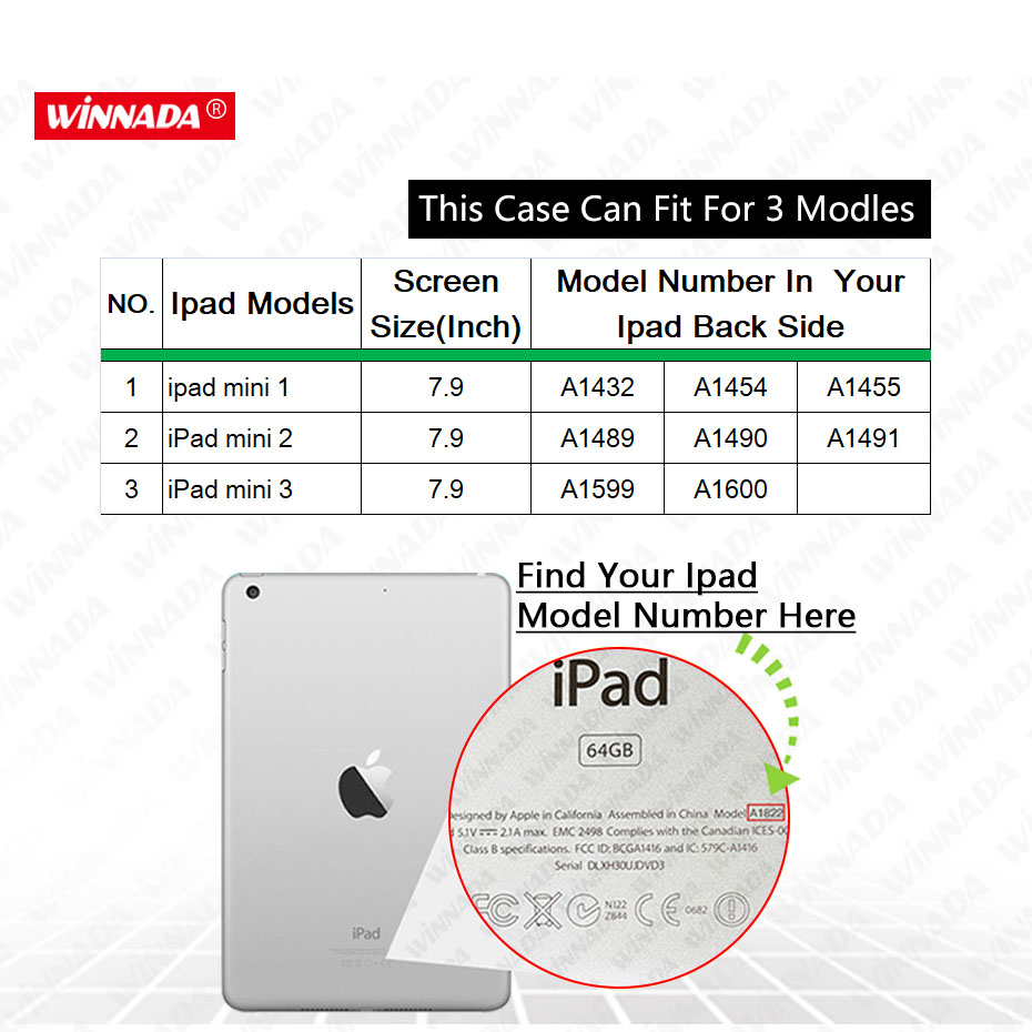 Case for Apple ipad mini 1 2 3 ultrathin flip three foldings stand PU leather tablet PC Cover shell capa coque for ipad mini 2 in Tablets e Books Case from Computer Office
