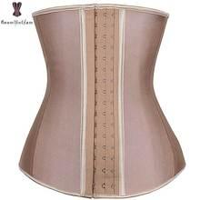 9 Steel Boned Latex Waist Corset Plus Size Corsets Underbust Bustier Women Outwear Korset Weight Loss Waist Trainer Body Shaper