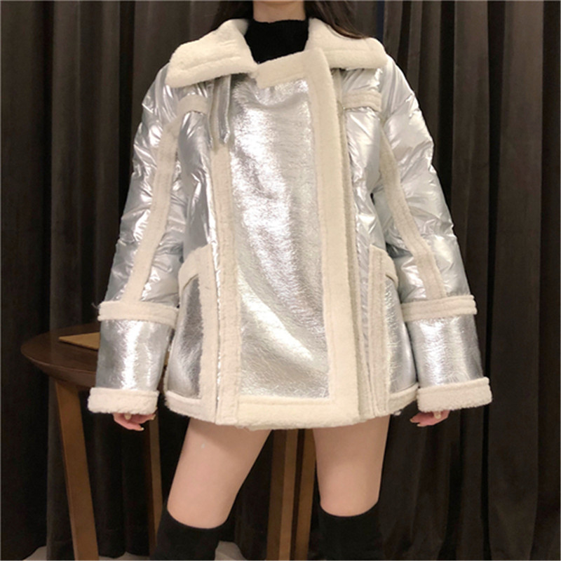 RUGOD Vintage Loose Women Jacket Coat Korean Style Long   Leather   Women Coat Thick Warm Fur Clothes abrigos mujer invierno 2018