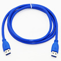 1.5M 5FT USB 3.0 Data Cable Type A Male to Type A Male Dual Shielding(Foil+Braided) For HDD PC Super Speed Transmission Blue