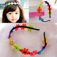 1PCS Baby Girl Kids Hair Accessories Flowers Headbands Hairband Bow Children Headwear Free Shipping