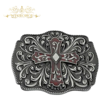Wishonor New Style Metal Cross Belt Buckle, Mens Belt Buckle For 4cm Wide Belt Buckle Men Jeans accessories For Gifts