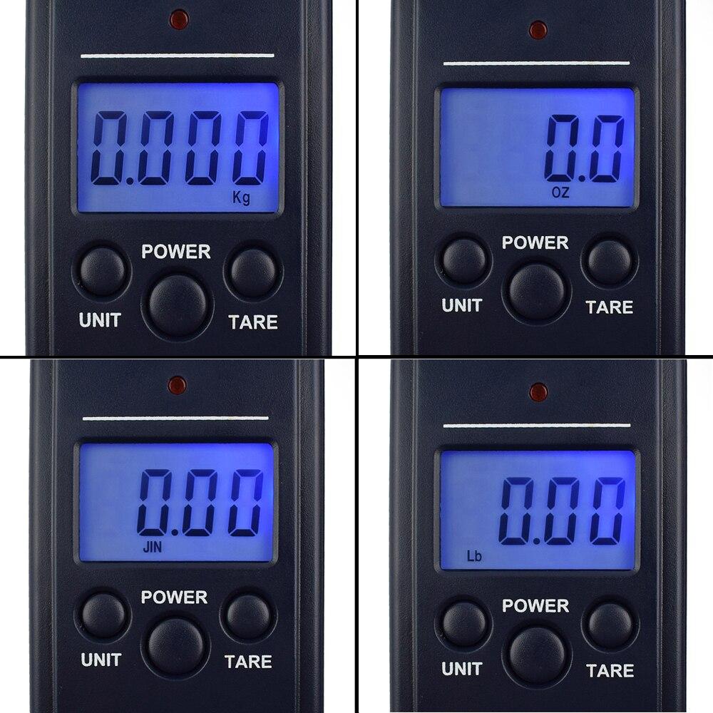 Bilancia pesapersone digitale portatile NEWACALOX da 40 kg / 88 - Strumenti di misura - Fotografia 2
