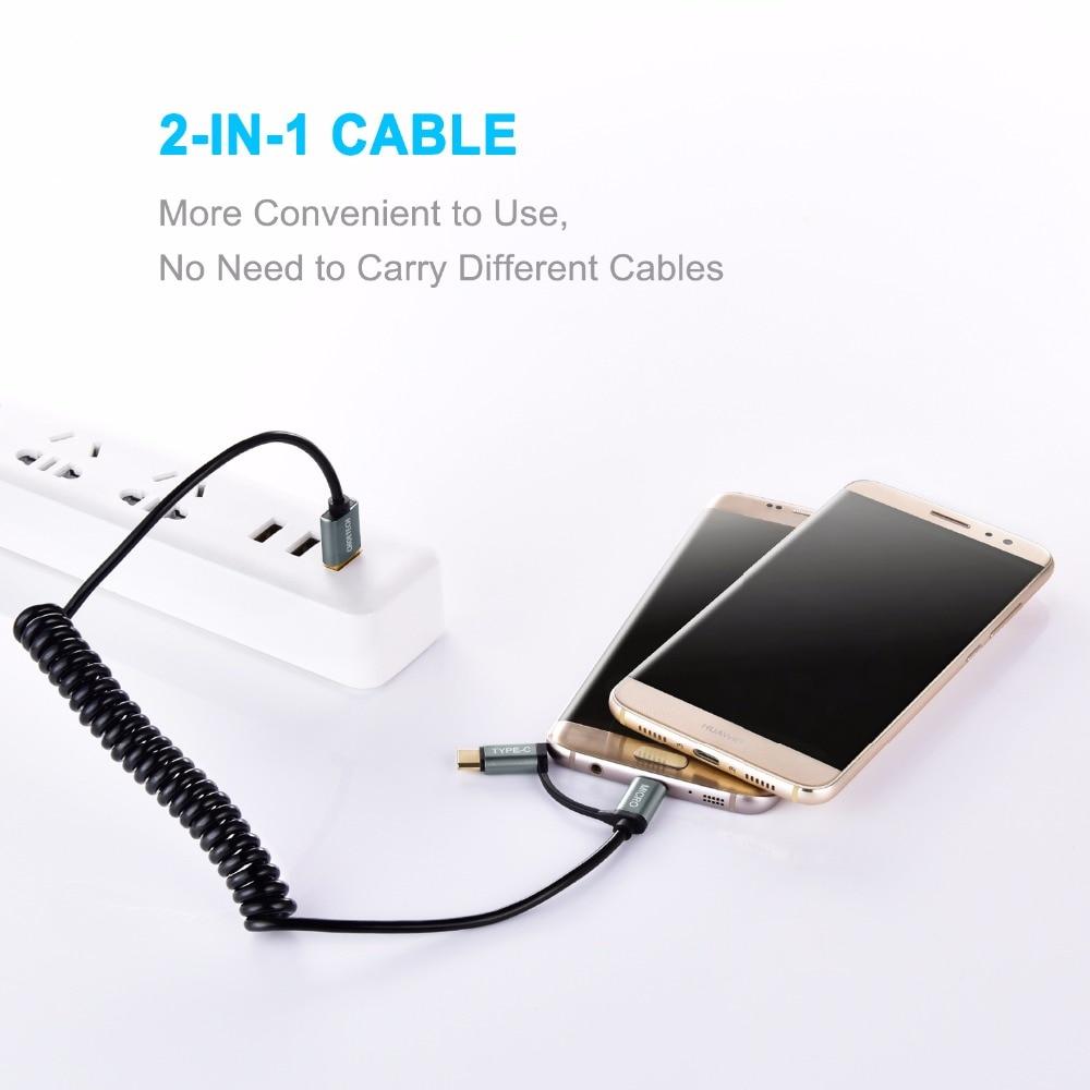 CHOETECH QC3.0 Καλώδιο USB τύπου C για Samsung Galaxy - Ανταλλακτικά και αξεσουάρ κινητών τηλεφώνων - Φωτογραφία 3