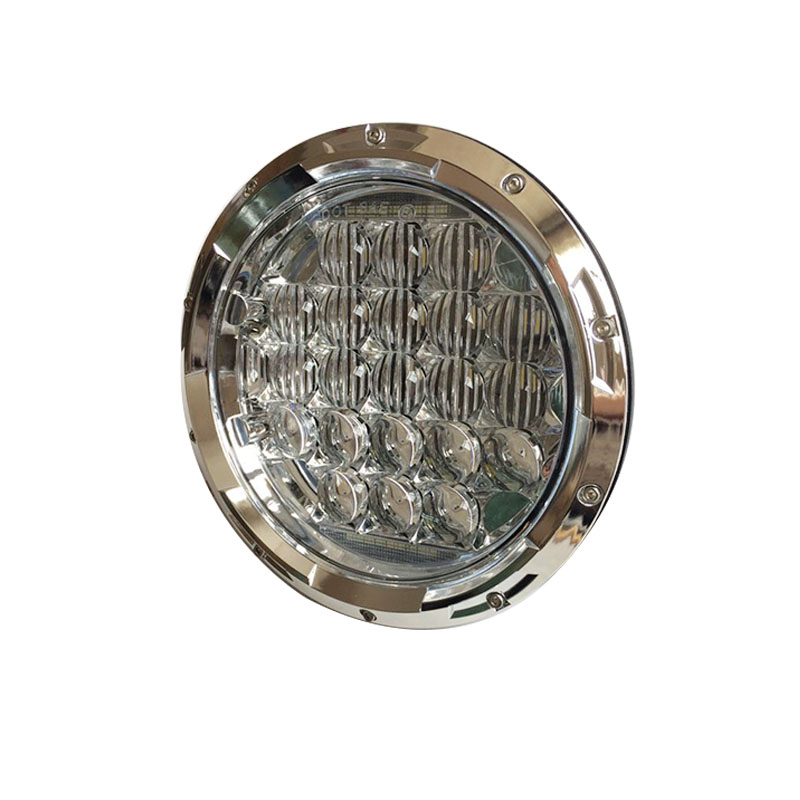 7 Inch Putaran LED Headlight 75W 5D Tinggi rendah Putih Angel Eye - Lampu mobil - Foto 3