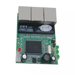 Image 4 - OEM chuyển đổi mini 3 cổng switch ethernet 10/100 mbps rj45 mạng chuyển đổi hub pcb đun board cho hệ thống tích hợp