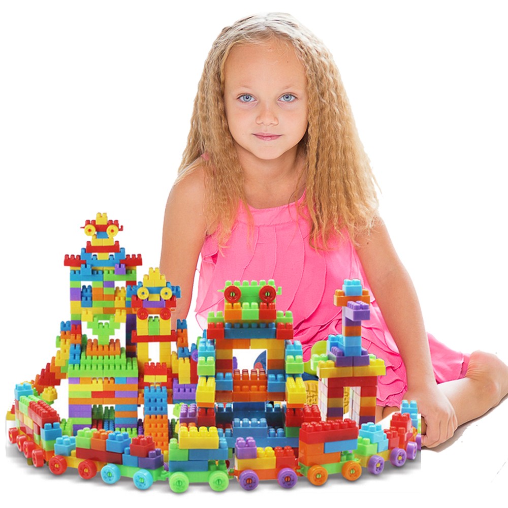 Nontoxic Educational Baby Toddler Brick Block Classical Toy for Kid Colorful Model Building Blocks Toys ABC Tank House Letters 24pcs plastic baby kid children house building blocks toy brick construction developmental toy set brain game baby play house