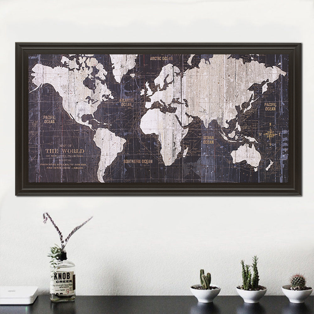 Aliexpress Com Buy Unframed 3 Panel Vintage World Map: Aliexpress.com : Buy World Map Canvas Nordic Wall Art