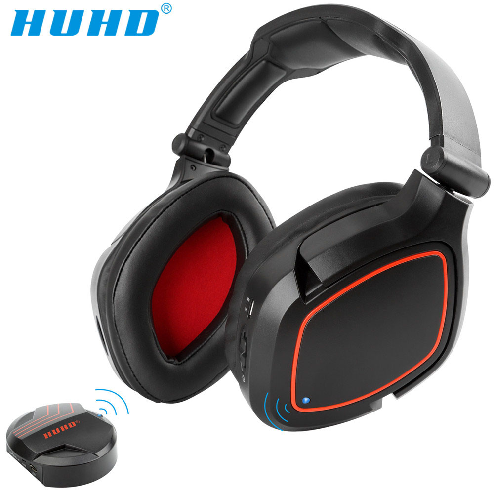 HUHD HW-K8 Sans Fil 2.4g Optique Fiber Stéréo Gaming Headset pour Nintendo COMMUTATEUR PS4 PC Portable MAC 7.1 Son Surround casque