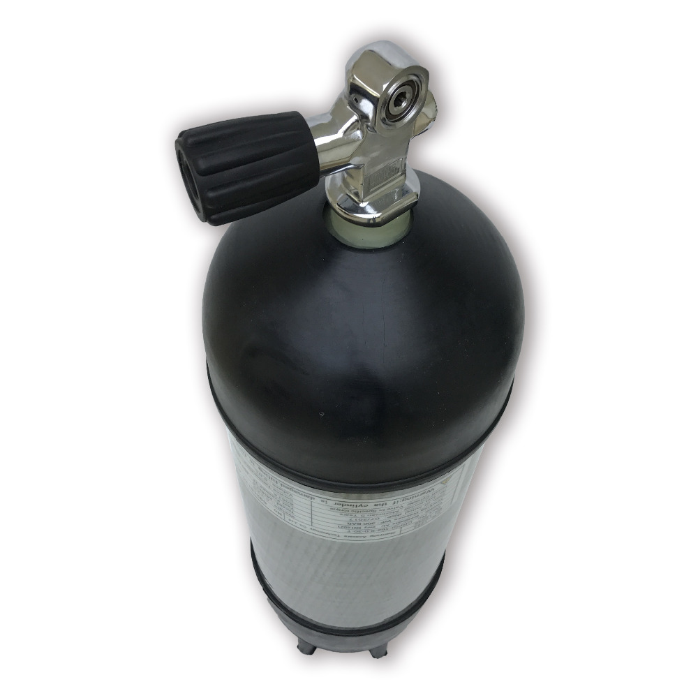 AC109591 Carbon Fiber Air Tank 9LCE 4500Psi With Rubber Boots For Compressed Air Gun Paintball Condor Pcp Drop Shipping Acecare