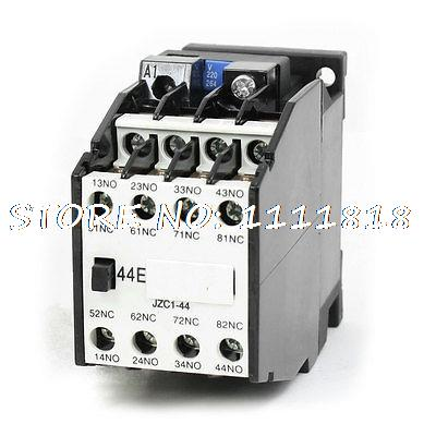35mm DIN Rail Mounted 3P 4NO+4NC 220VAC Coil Contactor Type Relay JZC1-44 утиная охота 2017 09 21t19 00
