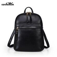 Кардамон натуральная кожа рюкзак Модные Винтажные женские высокое качество сумка бренд Дизайн плечи рюкзак высокое качество натуральной L