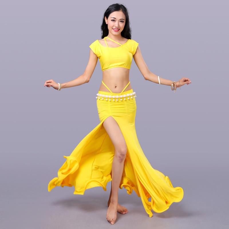 Sexy Eastern Oriental Belly Dance Costume Crop Tops Shirt Skirt for Women Belly Dancing Clothes Bellydance Dancer Clothing Wear