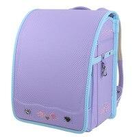 Fashion Pretty Japanese School Bag Pretty Children PU Bookbag for Girls and Boys Orthopedic Randoseru School Backpack Kids