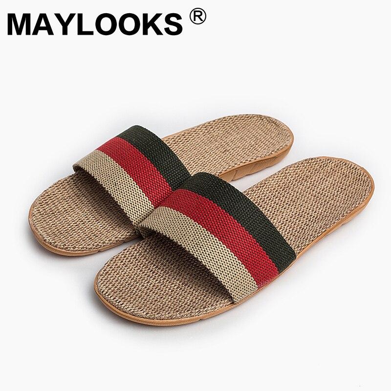 Sandals Men Real 2018 New Sale Linen Slis