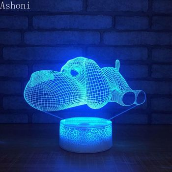 New Lovely Dog Shape 3D Table Lamp LED Touch 7 Color Changing Night Light Home Decor Kids Christmas Gifts 3d visual 7 color changing libra shape touch led night light