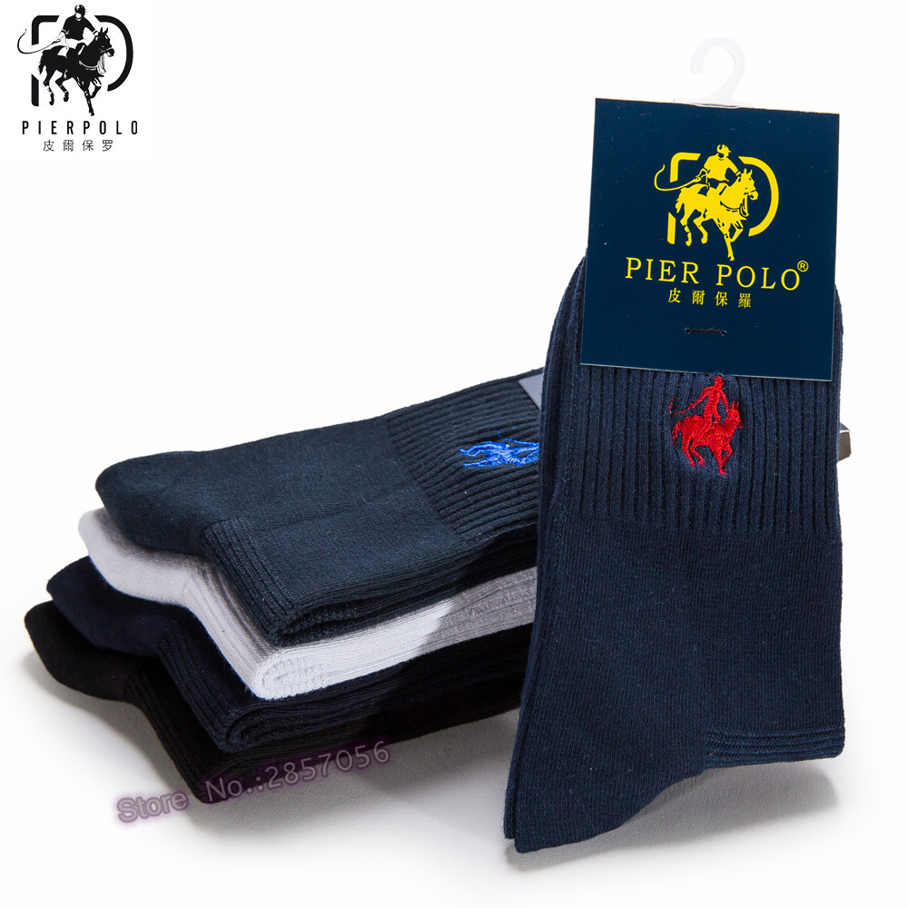 (5 Pairs/lot) 2017 New Fashion Brand Men Socks Combed Cotton Dress Socks Business Men Socks Fine Male Socks, Size EU 38-43
