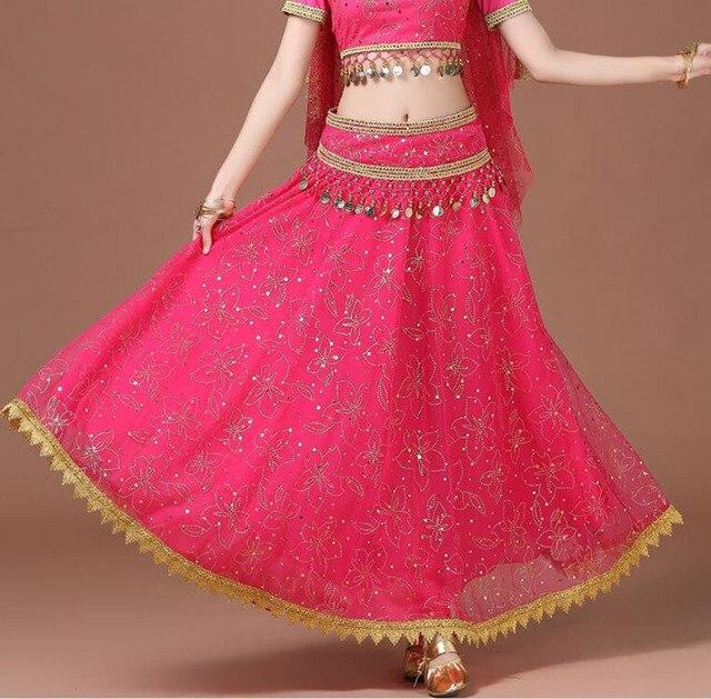 Bollywood jupe Costume danse du ventre jupe longue pour femme jupe danse du ventre