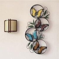 金属ガーデンホームデコレーションクリエイティブ蝶壁画壁の装飾レトロ家具装飾品アイアンウォール敷物