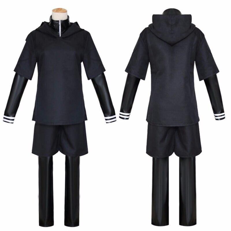 H & ZY аниме Токийский Гуль канеки Кен косплей топ брюки куртка с маской Черный Взрослый мужской костюм комбинезон для Хэллоуина Костюмы