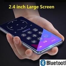 Ruизу D16 Bluetooth MP4 плеер 2,4 дюймов экран fm-радио диктофон электронная книга Портативный Аудио Видео плеер Bulit-in динамик