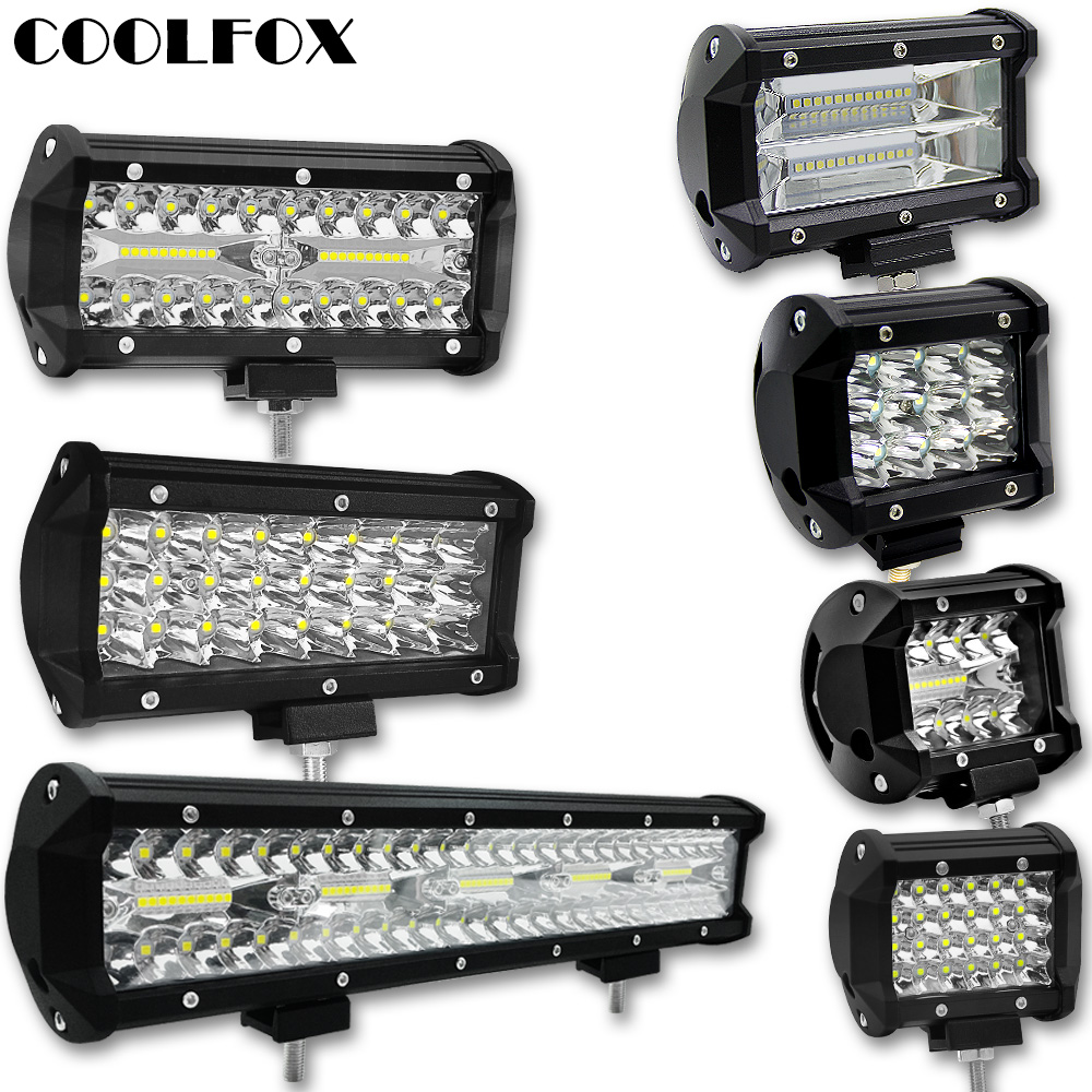 300W 120W 72W 36W 12 Volt Led Bar Werklamp Ramp Lightbar Led Spot Offroad Work Light Worklight Driving Lights Auto Accessories
