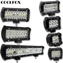 Lampe de travail Led werkamp Spot, lampe de travail tout terrain, lampe de conduite, accessoires Auto, 300W, 120W, 72W, 36W, 12 volts, barre de Led