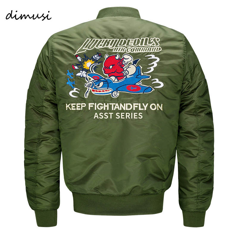 DIMUSI Bomber Jacket Men 2017 Ma 1 Army Green Flight Jacket Pilot Air Force Mens Ma1