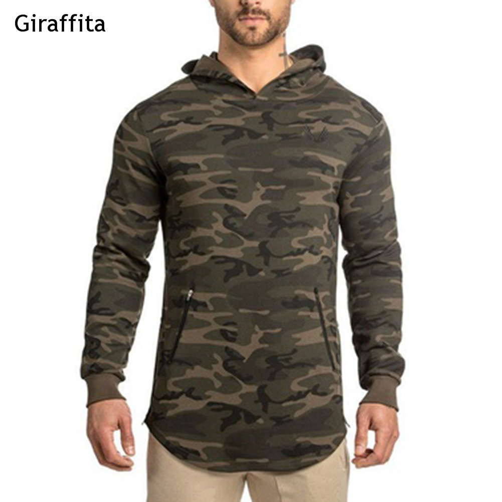 2018 new black camouflage hoodies winter mens camo fleece pullover ...