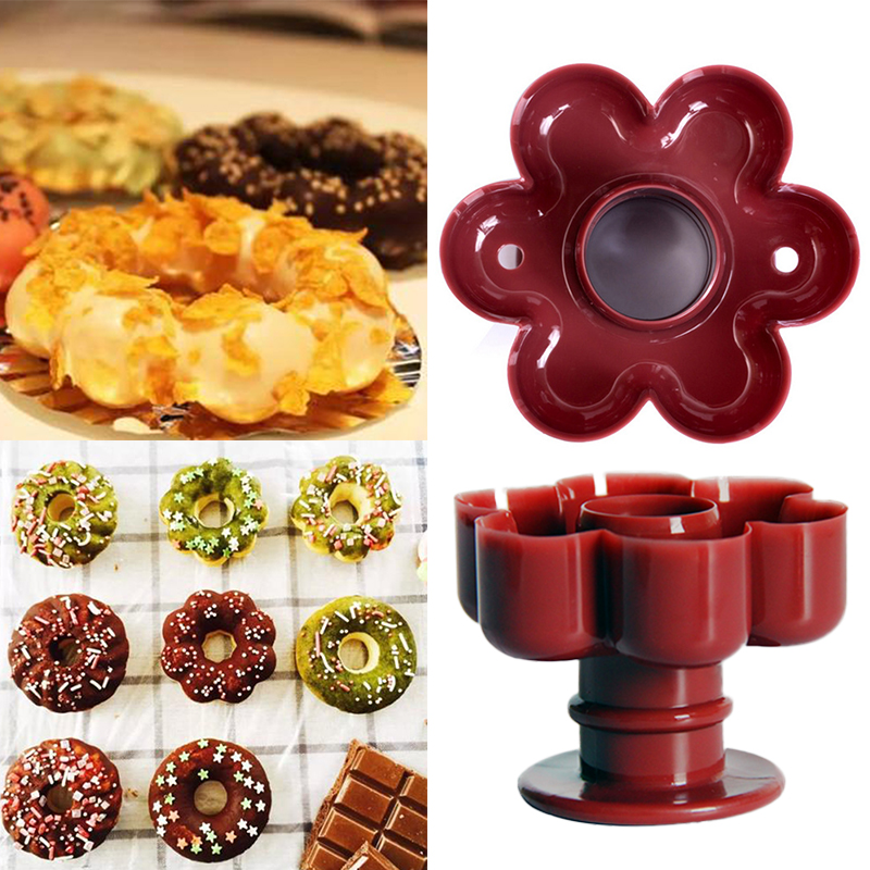 1pcs Practical Donut Tool Waffle Donut Maker Cutter Mold Sweet Food Sweets Baking Cookie Biscuit Cake Mold Kitchen Dessert Tool