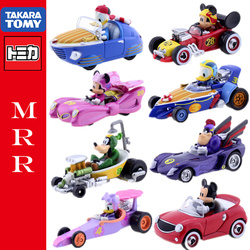 Mickey minnie daisy pato donald diecast modelo de carro de metal takara tomica disney mickey mouse e road racer mrr série