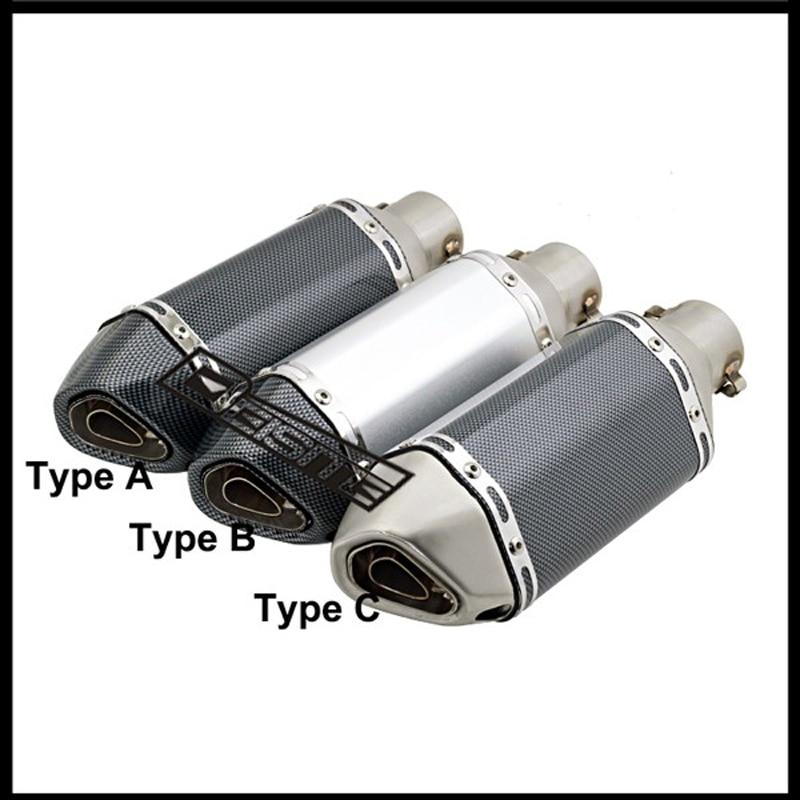 ID:51MM(2) Akrapovic Exhaust Muffler Mini Small Hexagon for GP modified Exhaust Muffler Escape with DB killer