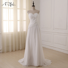 ADLN Cheap Plus Size Wedding Dresses Sweetheart Pleats Appli