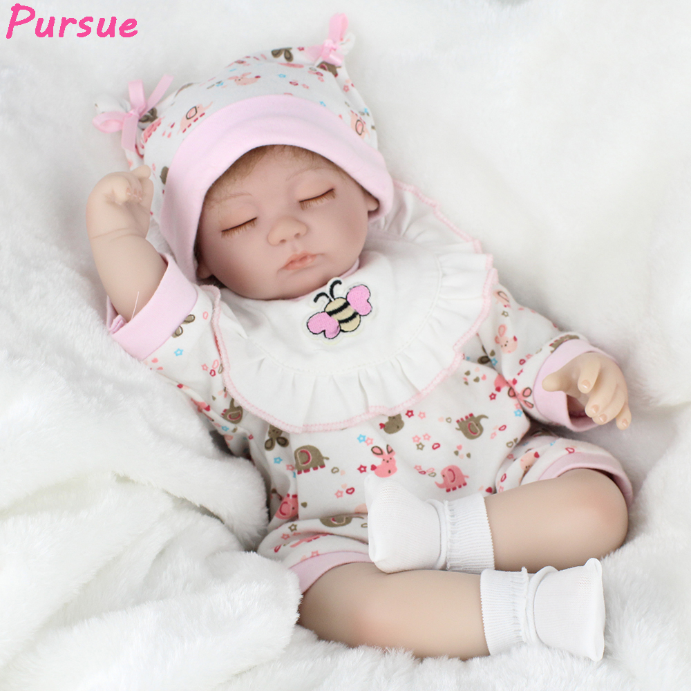 Pursue18/45cm Reborn Baby Dolls Open Eyes Close Eyes Princess Doll with Pacifier Vinyl Limbs Cotton Body Friends For Toddlers 12 chinese princess doll collectible bjd girl dolls with flexible joints body 3d reastic eyes souvenir valentine s day gifts