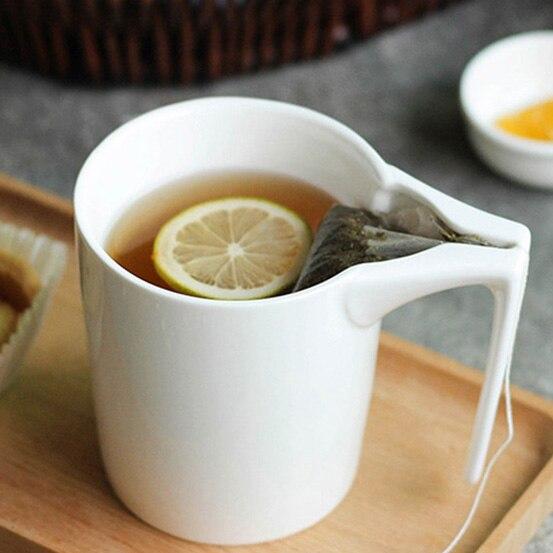 330 ml Tazza Creativa Tazza di Ceramica con il Supporto Bustina di Tè Speciale Intaglio Bustina di tè In Possesso di Tazza Home Office Regalo Operato per Bevitore di Tè