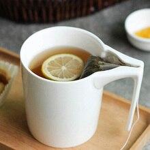 330 ml Kreative Keramik Becher mit Teebeutel Halter Spezielle Geschlitzte Tasse Teebeutel Hält Becher Home Office Phantasie Geschenk für Tee Trinker