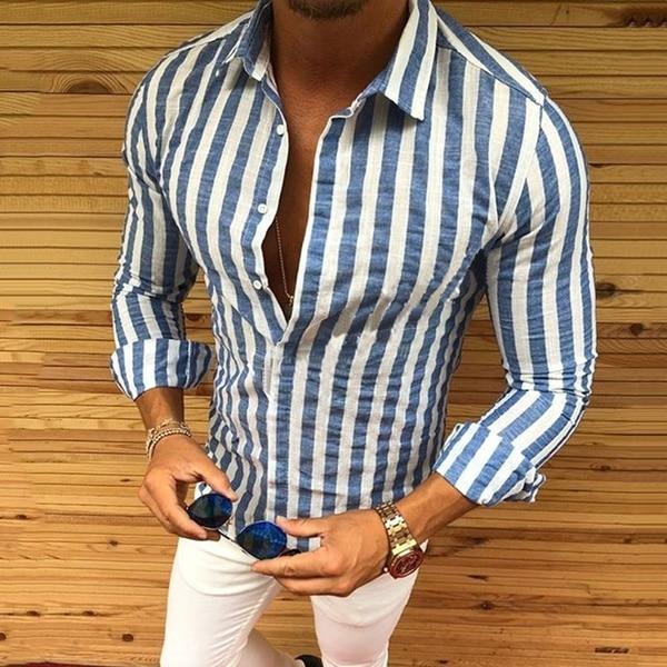 Camisa 2018 nova marca masculina casual músculo
