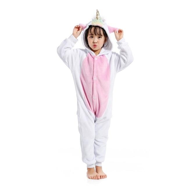 8fafcb3b8d New Animal Golden Horn Pegasus Unicorn Pijamas Onesies Flannel Hooded Kids  Boys Girls Pajamas Cartoon Cosplay