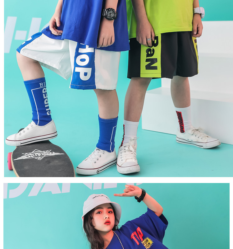 Kid clothes girl Boy set Summer 2019 4 6 8 10 12 14 Years Hip Hop T shirt Pants dance costumes kids boys Girls young clothes (5)