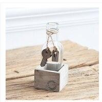 Zakka Творческий Европа Тип Мини-Деньги завод гидропоники цветочек бутылка стекло ваза домашнего декора