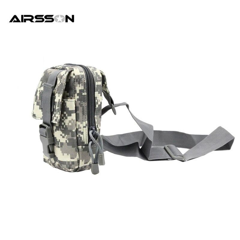 Prix pour 600D Militaire Camouflage En Nylon Poitrine Sac En Plein Air Chasse Portable Léger Accessoire Poche Tactique Randonnée EDC Utilitaire de Poche