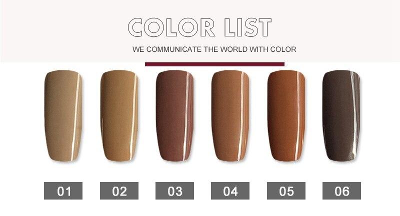Mizhse Nueva Llegada Peru Color Marron Serie Gel Esmalte De Unas - Como-obtener-el-color-marron