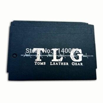 custom clothing 700 gsm black matte paper hang tag/silver embossed cardboard printed tag/clothing labels printing/business card