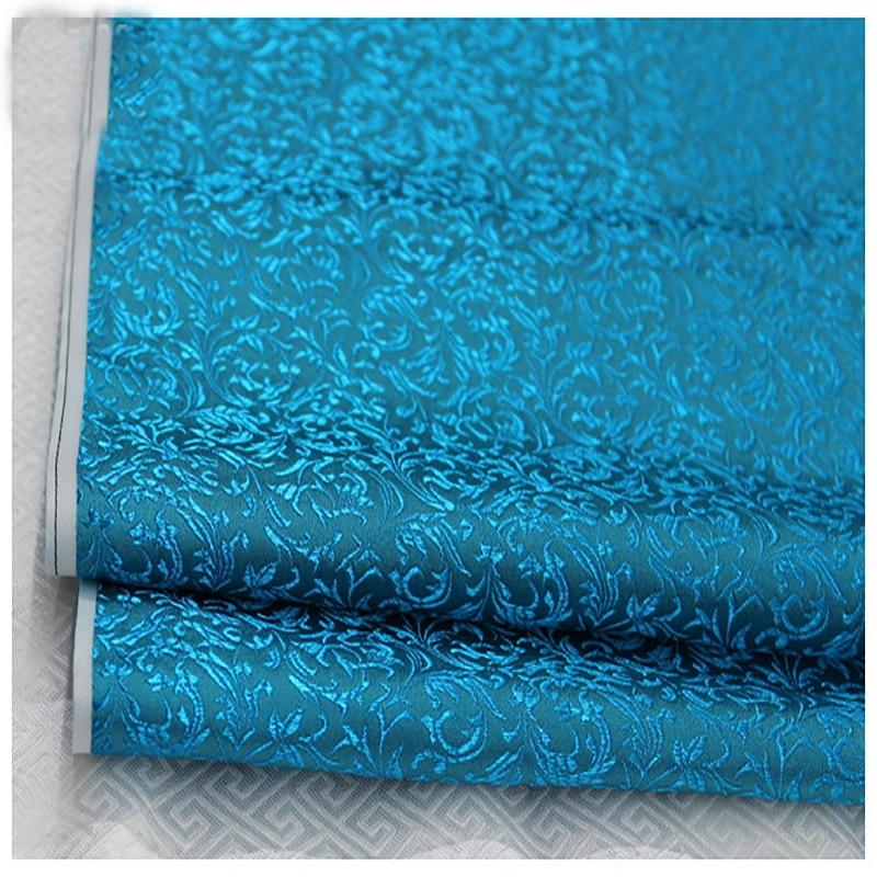 HLQON malte de brocado flor folha de cama tecido patchwork tecido feltro telas de ouro vermelho vestido cheongsam crianças casaco pano 75cm largura