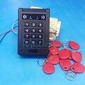Envío Gratis Seguridad Para El Hogar Sistema de Cerradura de La Puerta de Control de Acceso de Entrada de Proximidad RFID Con 10 unids Rojo Tarjeta RFID Keyfobs